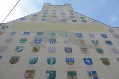 Гербы разных городов Латвии
