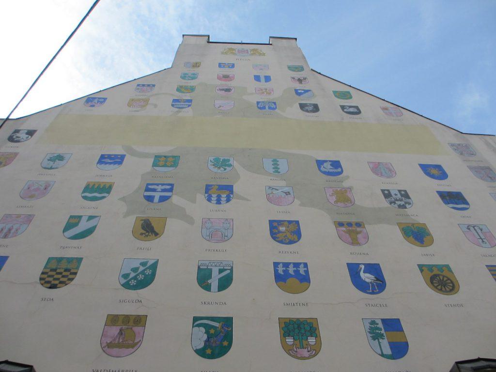 Гербы разных городов Латвии - Рига
