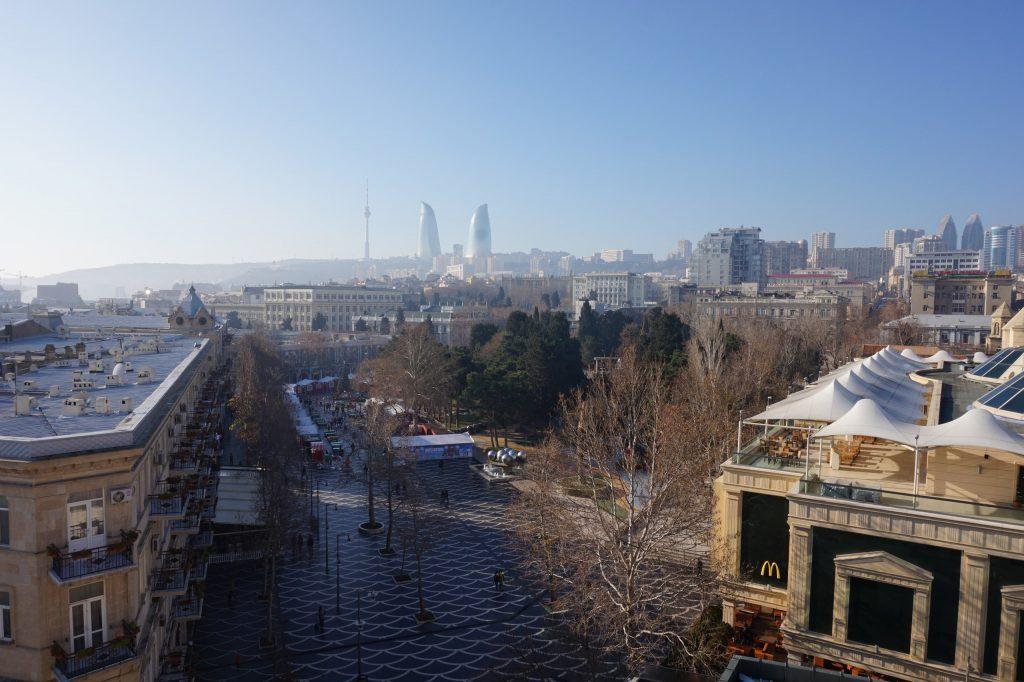 Вид на центр города из гостиницы