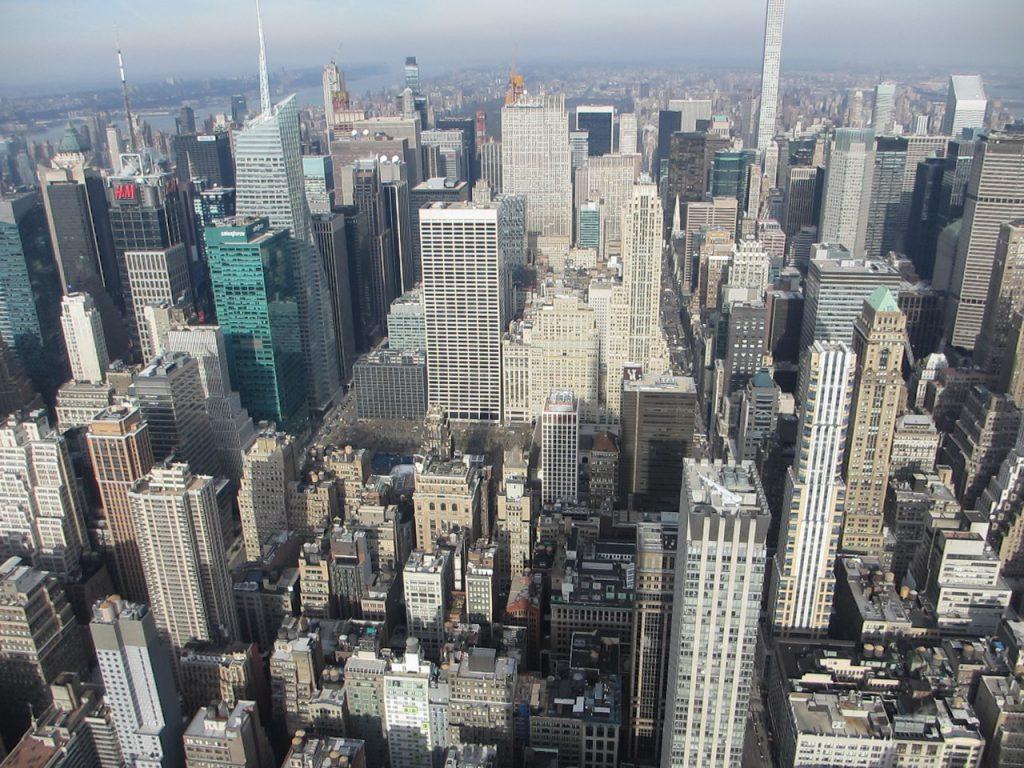 Вид на город с Эмпайр-стэйт-билдинг