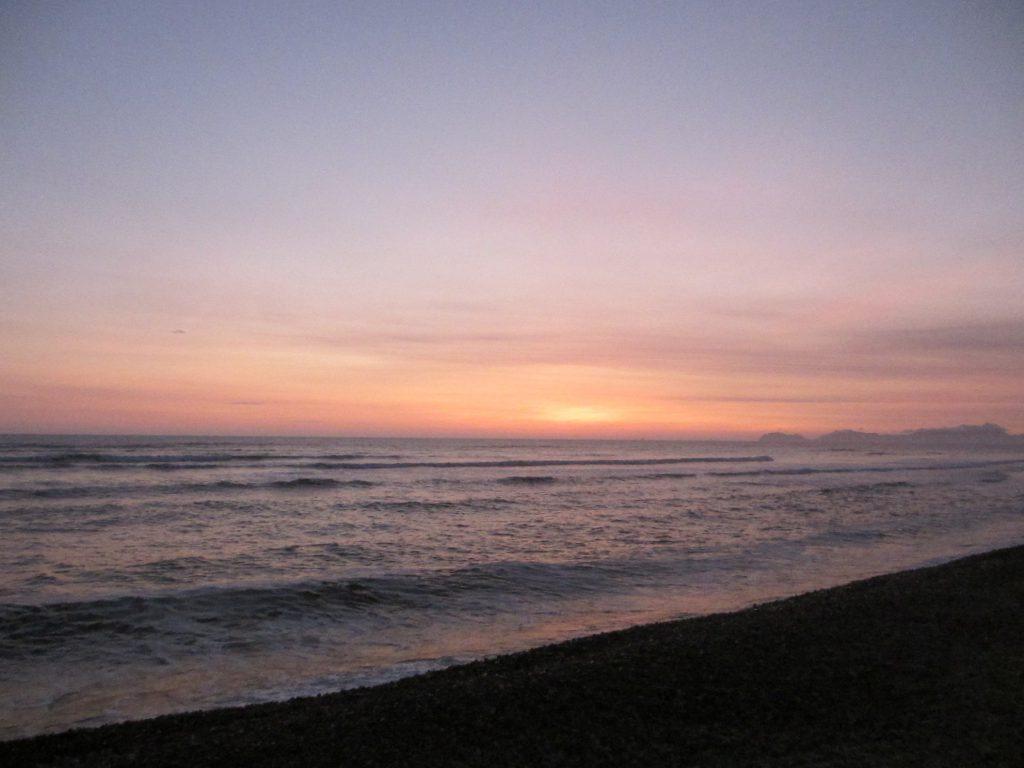 Тихий океан, закат